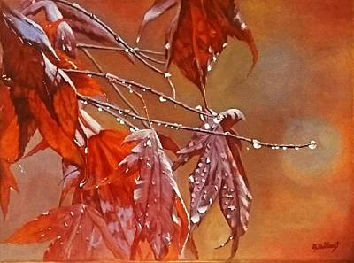 Painting - Red Autumn by Sheryl Gallant