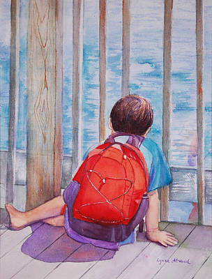 Painting - Red Backpack by Lynne Atwood