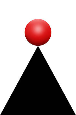 Red Ball 28c V Art Print by Mike McGlothlen