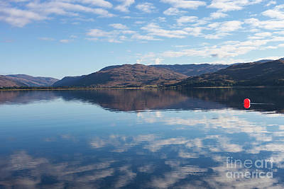 Photograph - Red Ball On Loch Carron  by Diane Macdonald