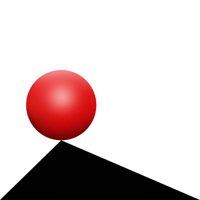 Abstract Drawing - Red Ball S Q 7 by Mike McGlothlen