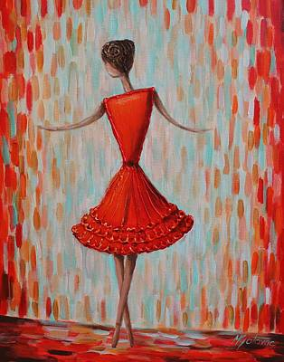 Red Ballerina Art Print