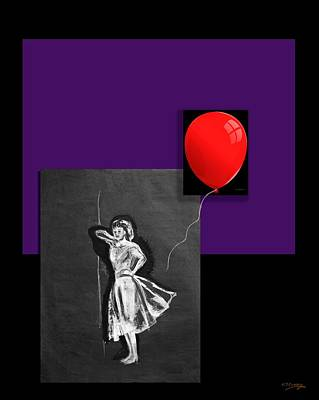 Painting - Red Balloon 2 by Tom Conway