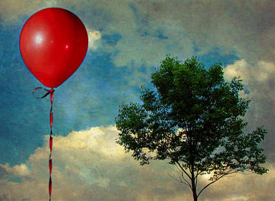 Manipulation Photograph - Red Balloon by Jessica Brawley