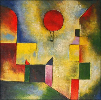 Red Balloon Art Print by Paul Klee