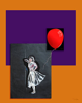 Painting - Red Balloon by Tom Conway