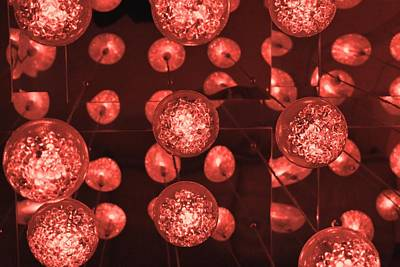 Photograph - Red Balls Of Light 1 by Nina Kindred