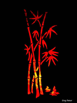 Red Bamboo Art Print by Greg Patzer