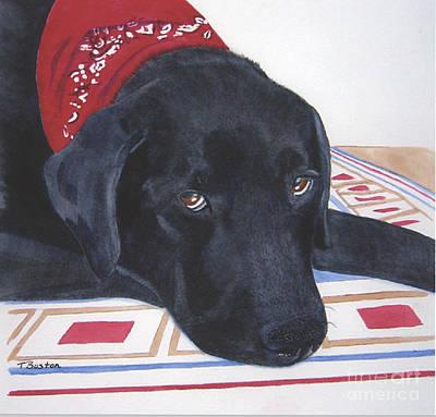 Painting - Red Bandana by Teresa Boston