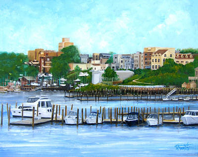 Red Bank From The Molly Pitcher Hotel Art Print