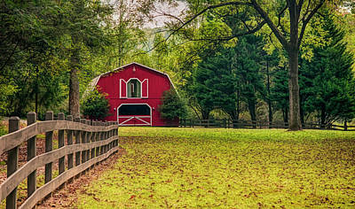 Photograph - Red Barn 2 by Mick Burkey