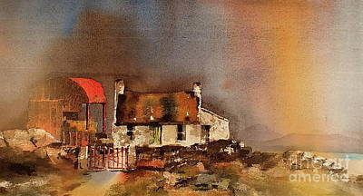Painting - Red Barn 2 by Val Byrne
