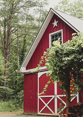 Photograph - Red Barn 3 by Andrea Anderegg