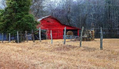 Photograph - Red Barn A Long The Way by Carol Montoya