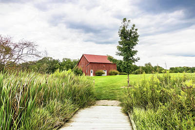 Rural Photograph - Red Barn At Dawes Arboretum by Tom Mc Nemar