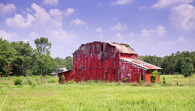 Photograph - Red Barn At The Old Homestead by Douglas Barnett