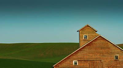 Photograph - Red Barn Blue Sky by Don Schwartz