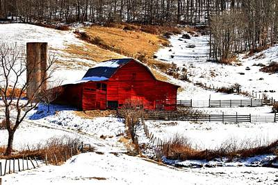 Photograph - Red Barn  by Carol Montoya
