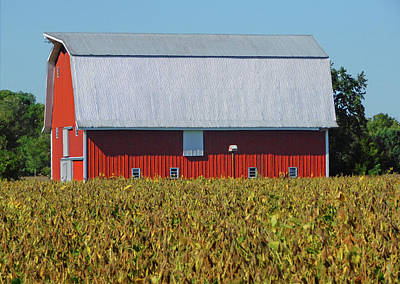 Photograph - Red Barn Charm - Cambridge Md by Emmy Vickers