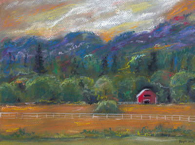 Painting - Red Barn by Clara Sue Beym