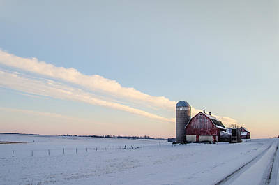 Art Print featuring the photograph Red Barn by Dan Traun