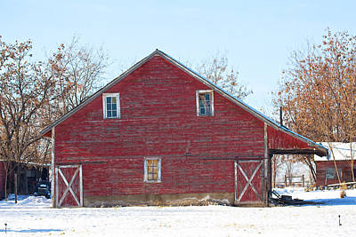 Photograph - Red Barn by Dart Humeston