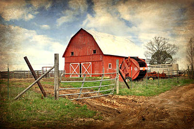 Photograph - Red Barn Dent County by Marty Koch