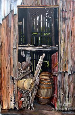 Painting - Red Barn Door by Anna-Maria Dickinson