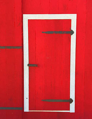 Painting - Red Barn Door by Dan Sproul