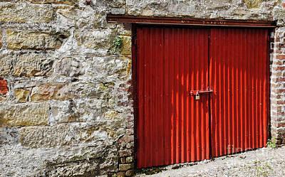 Photograph - Red Barn Door by Lexa Harpell