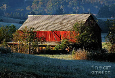 Art Print featuring the photograph Red Barn by Douglas Stucky