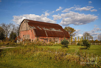 Photograph - Red Barn by Grace Grogan