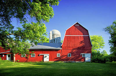 Photograph - Red Barn In Auburn by Carolyn Derstine