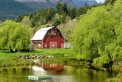 Photograph - Red Barn In Brinnon Washington by Teri Virbickis