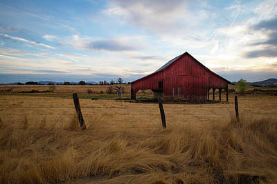 Photograph - Red Barn In California by Kathleen Scanlan