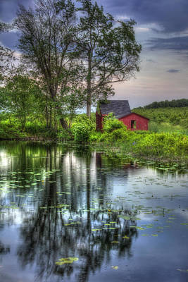 Country Scene Photograph - Red Barn In Country Setting by Joann Vitali