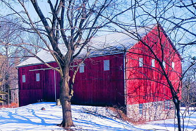 1-war Is Hell Royalty Free Images - Red Barn in Gettysburg Royalty-Free Image by Paul Kercher