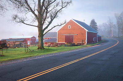Photograph - Red Barn In Lee Nh by Eric Gendron