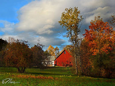 Photograph - Red Barn In Piermont New Hampshire by Nancy Griswold
