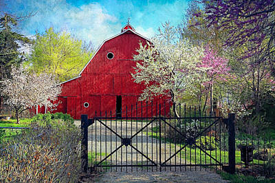 Photograph - Red Barn In Spring by Anna Louise