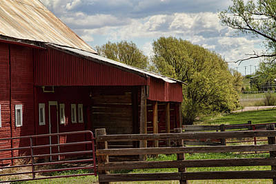 Photograph - Red Barn In Springtime by Alana Thrower