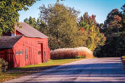 Red Barn In The Country Art Print
