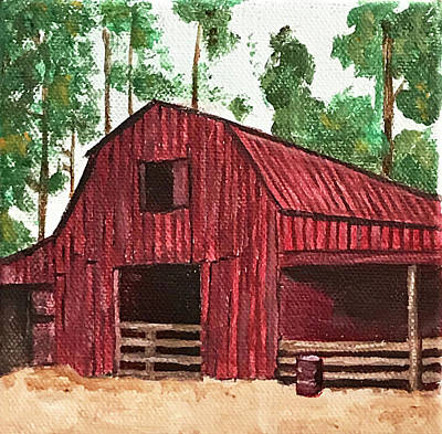 Painting - Red Barn In The Trees by Kevin Callahan