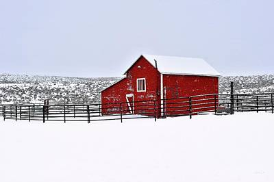 Photograph - Red Barn In Winter by Amanda Smith