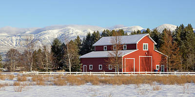 Photograph - Red Barn by Jack Bell
