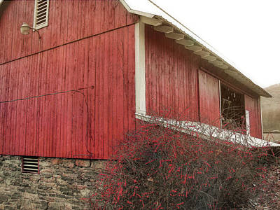 Photograph - Red Barn by JAMART Photography