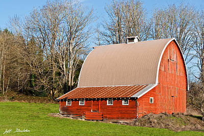 Photograph - Red Barn by Jeff Goulden