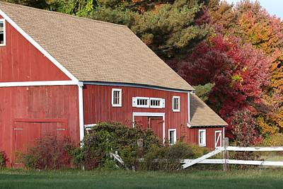 Photograph - Red Barn by Jim Gillen
