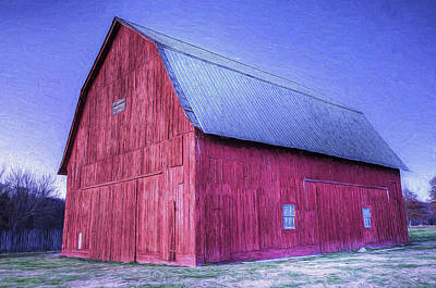 Painting - Red Barn by Joe Sparks