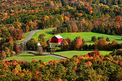 New Paltz Photograph - Red Barn by June Marie Sobrito